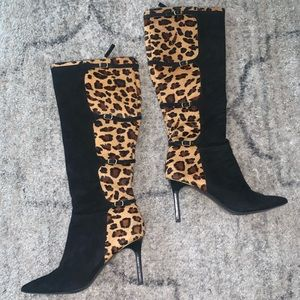 Lauren by Ralph Lauren Knee High Cheetah Boots